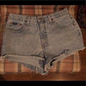 Express Brand cut-off shorts. Size 9/10 blue denim